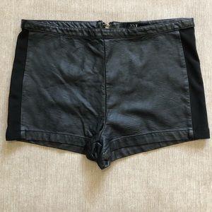 Forever 21 black pleather shorts size large